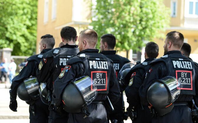 Saksamaa märulipolitseinikud.