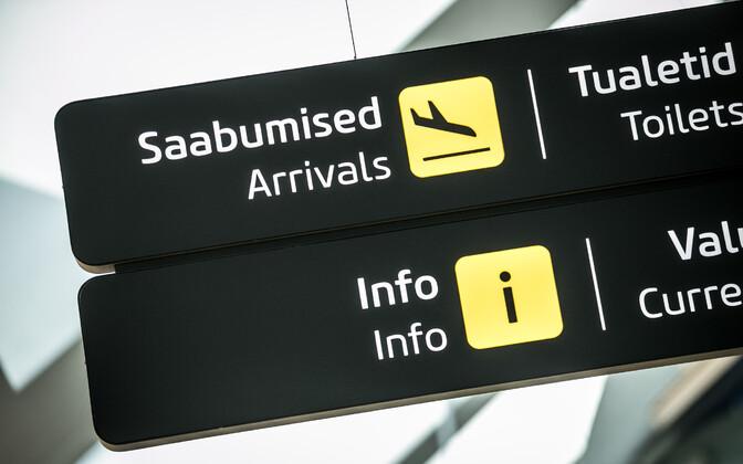 Arrivals at Tallinn Airport.