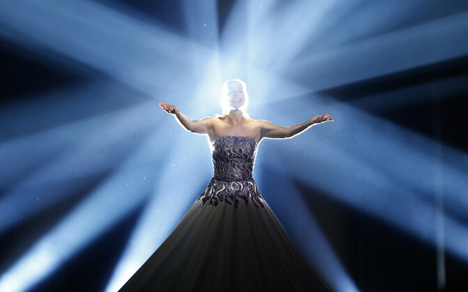 Estonia's Elina Nechayeva performing
