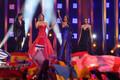 63. Eurovisiooni saatejuhid Daniela Ruah, Silvia Alberto, Catarina Furtado ja Filomena Cautela