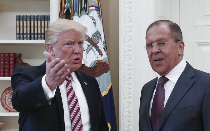 USA president Donald Trump ja Vene välisminister Sergei Lavrov aasta tagasi Washingtonis