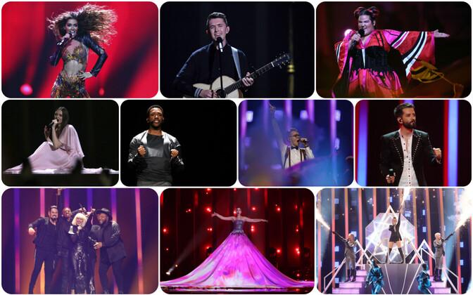 Eurovisiooni esimese poolfinaali edasipääsejad