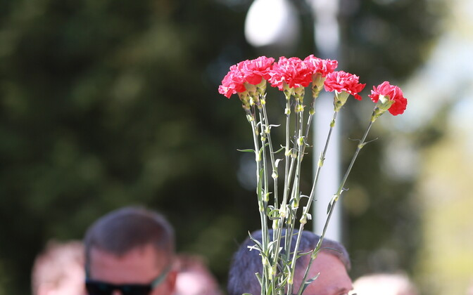 Red carnations are a symbol of the Russian Victory Day, celebrated on May 9.