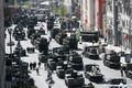 Военная техника на Тверской улице в Москве в ходе парада на 9 мая.