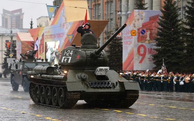 Парад в честь 9 мая в Екатеринбурге.