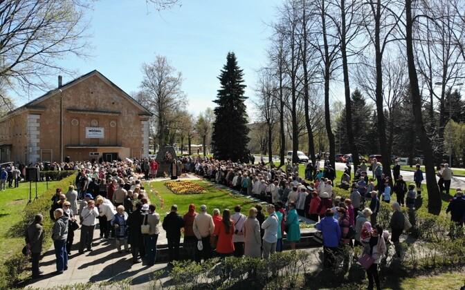 9. mai miiting Kohtla-Järvel