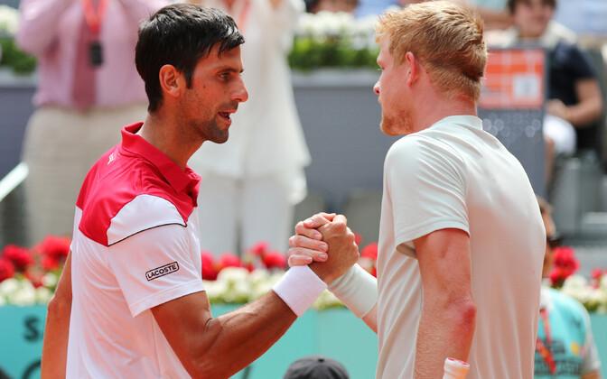 Novak Djokovic ja Kyle Edmund