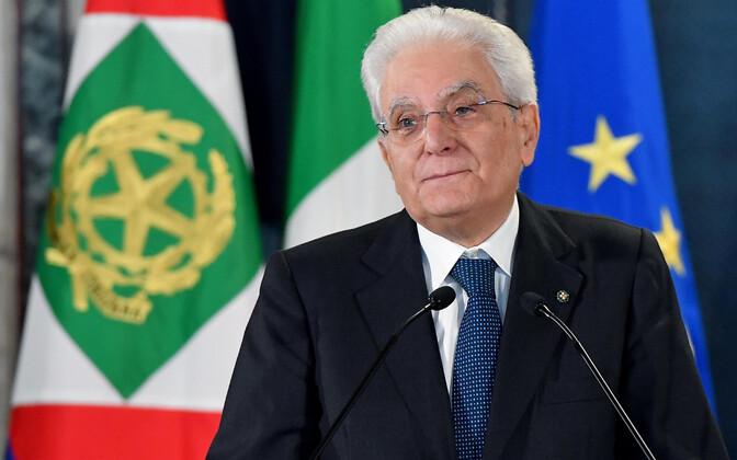 Itaalia president Sergio Mattarella.