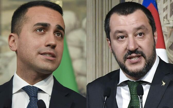 M5S-i juht Luigi di Maio ja Liiga liider Matteo Salvini.