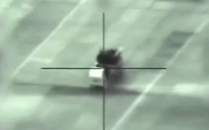 Video stoppkaader - Iisraeli õhurünnak Süürias.