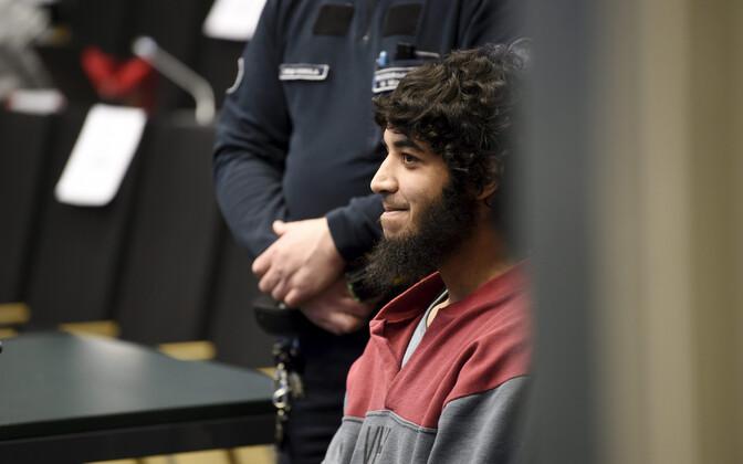 Turu noarünnakus süüdistatav Abderrahman Bouanane kohtusaalis.