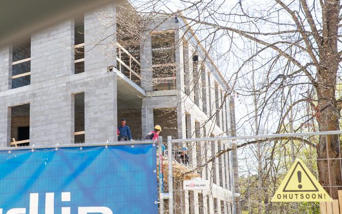 Kortermaja ehitus Tallinnas.