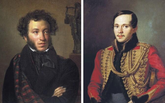 Duellilembus on lõppenud kurvalt ka mitmetele Venemaa suurkujudele. Pildil Aleksandr Puškin ja Mihhail Lermontov, kes mõlemad on ka Kaukaasia teemadel kirjutanud.