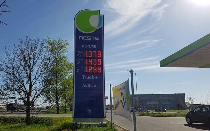 Kütusehinnad Neste tanklas.