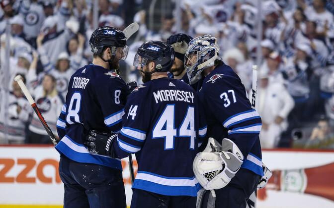 Winnipeg Jetsi mängijad.