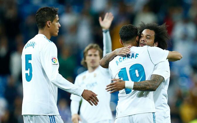 Madridi Reali mängijad.