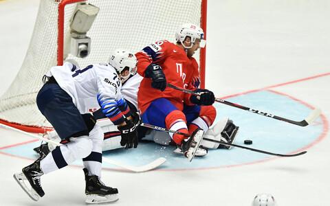 ЧМ по хоккею: США - Норвегия.