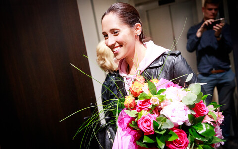 Nechayeva arriving from Portugal on May 14, 2018.