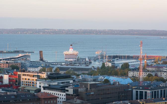 A Tallink ferry in port in Tallinn.