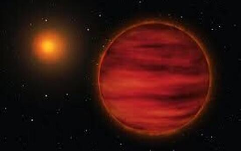 Kunstniku kujutis tähest Gliese 710.