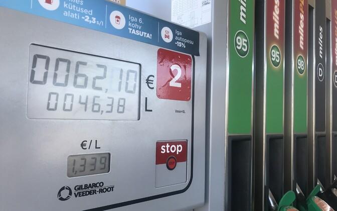 Circle K tankla tankimisautomaat Tallinnas.