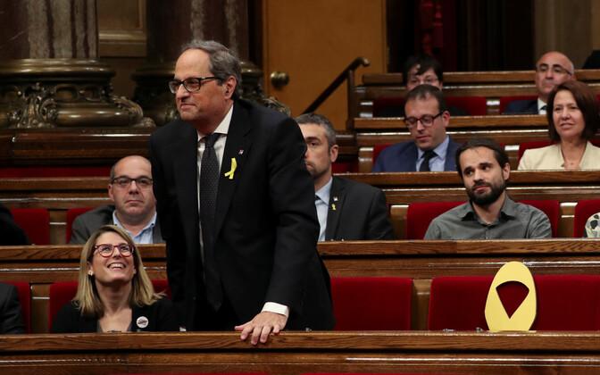 Kataloonia regionaalvalitsuse uus president Quim Torra.