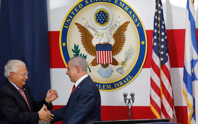 Американский посол Дэвид Фридман и премьер-министр Израиля Биньямин Нетаньяху.
