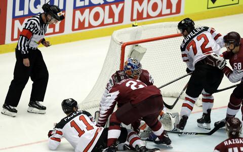 Сборная Латвии дала бой канадцам.