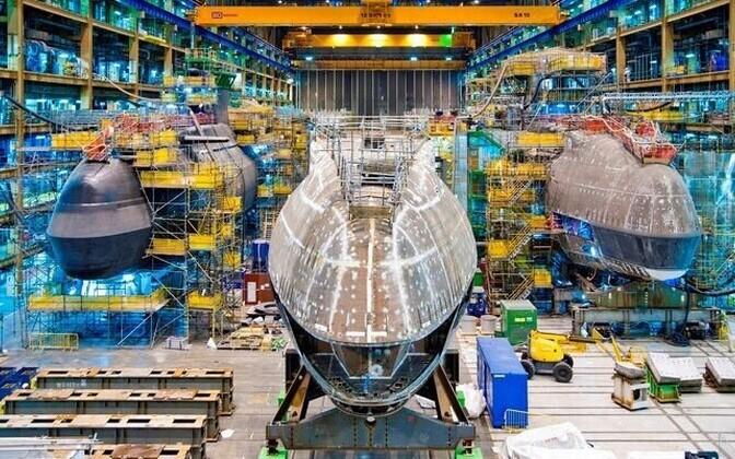 Astute-klasi tuumaallveelaevade ehitamine BAE Systemsi tootmishoones.
