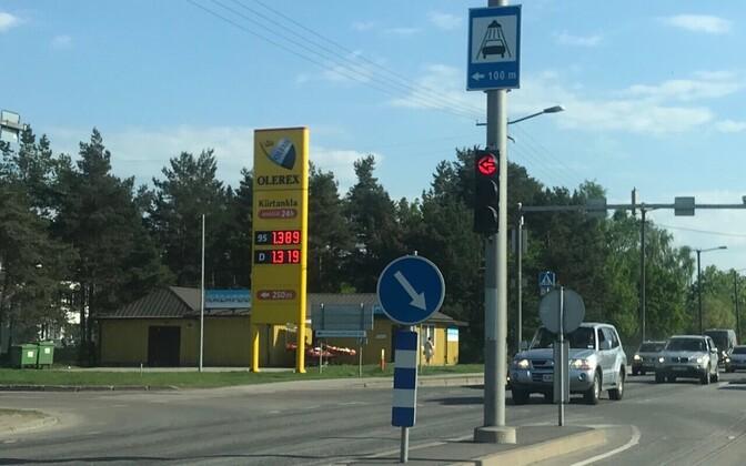 Kütusehinnad Tallinnas 15. mail.