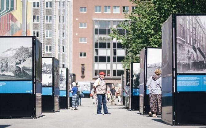Выставка на площади Вабадузе будет открыта до 3 июня.