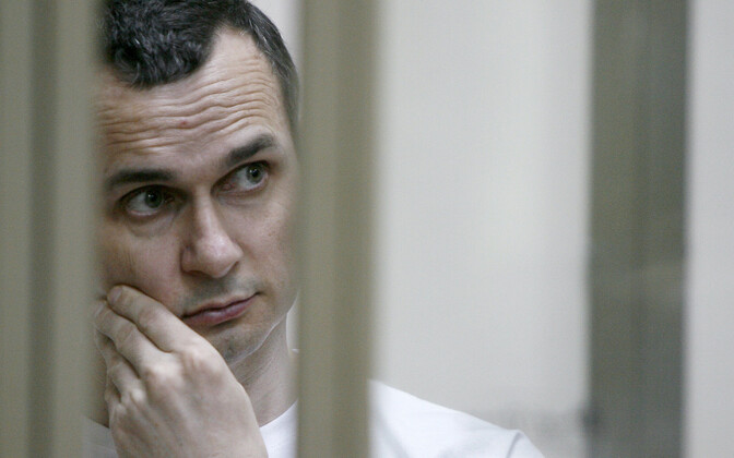 Oleg Sentsov appearing in a Russian court in 2015.