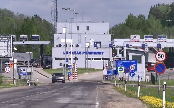 Luhamaa border checkpoint in Southeastern Estonia.