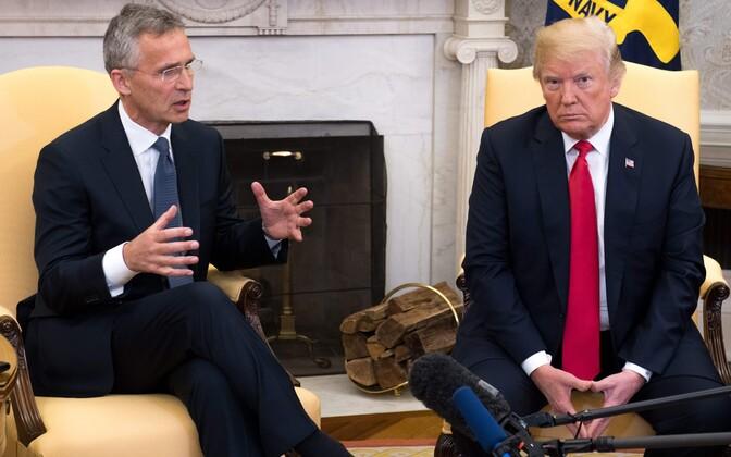 Jens Stoltenberg ja Donald Trump Valges Majas.