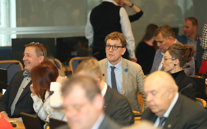 Kristen Michal (Reform) at a Tallinn City Council meeting.