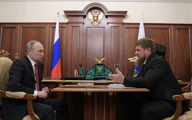 Putin ja Kadõrov 2017. aastal Kremlis.