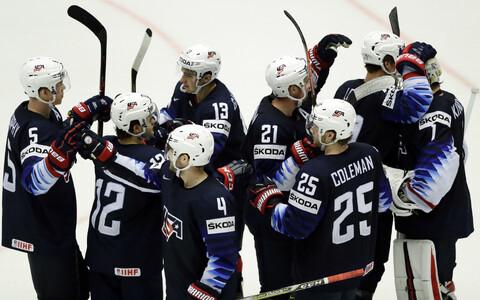 Хоккеисты сборной США.