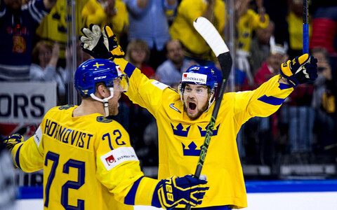 Хоккеисты сборной Швеции - фавориты ЧМ.