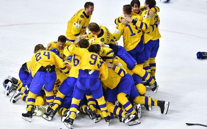Rootsi jäähokikoondis krooniti taas jäähoki maailmameistriks