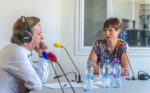 В студии – Президент Эстонской Республики Керсти Кальюлайд
