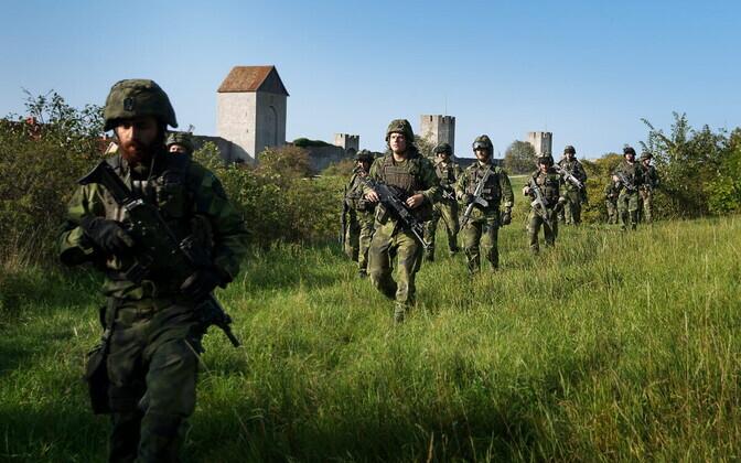 Rootsi kaitseväelased Gotlandil Visby lähistel.