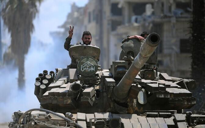 Войска Башара Асада утратили полный контроль на Дамаском в 2012 году.