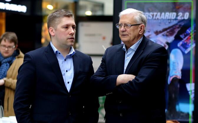 Keio Kuhi ja Jaak Salumets möödunud aastasel Eesti korvpalli meistriliiga pressikonverentsil