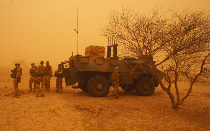 Troops participating in Operation Barkhane in Mali.