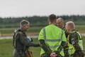 Rootsi Gripen hävitajad maandusid Ämaris.
