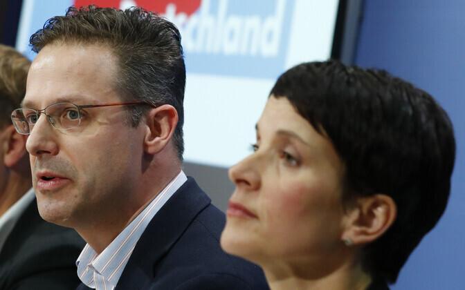 AfD (nüüdseks juba kunagised) poliitikud Marcus Pretzell ja Frauke Petry 2016. aasta detsembris.