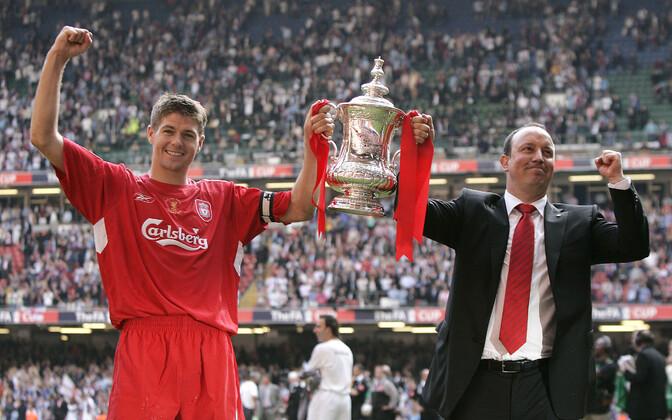 Steven Gerrard ja Rafael Benitez 2006. aastal