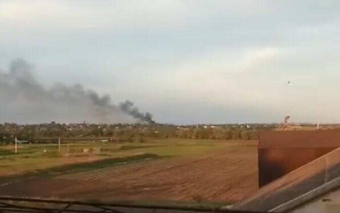 Suurtükitule tagajärjed Talakivka asulas.