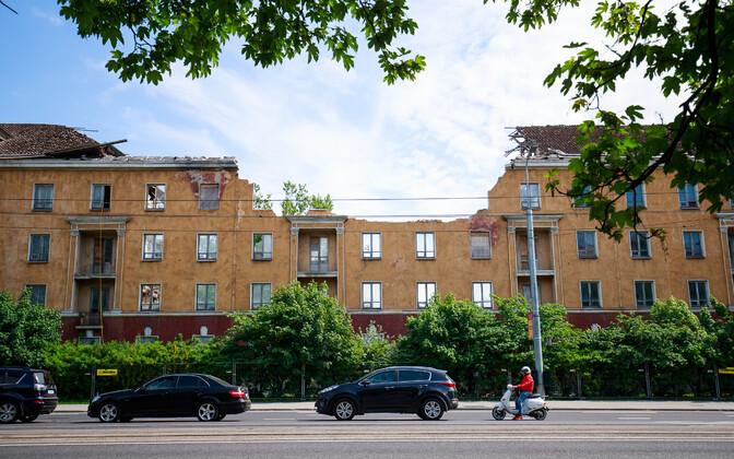 Pärnu maantee 59, kuhu ehitatakse kaunite kunstide kool.