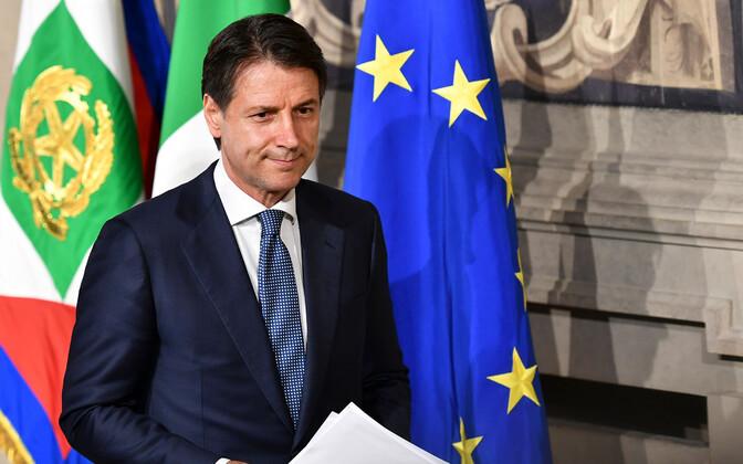 Джузеппе Конте после встречи с президентом Италии.